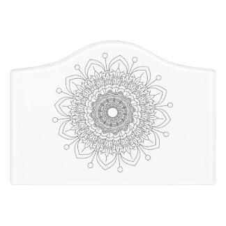 Letrero Para Puerta Vect desing del indio del diseño floral de la