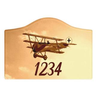 Letrero Para Puerta WW1 barón rojo alemán Aircraft Aviation