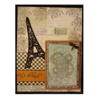 Lets almuerza postal de la torre Eiffel