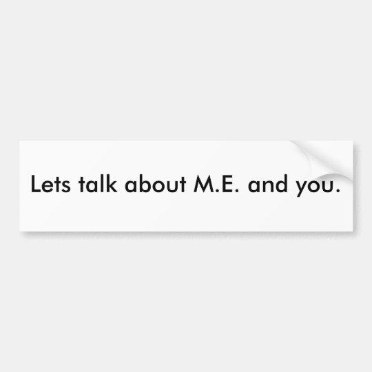 Lets habla M.E. y de usted Pegatina Para Coche