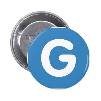 Letter G - emoji Twitter Chapa Redonda 5 Cm