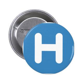Letter H Emoji Twitter Chapa Redonda 5 Cm