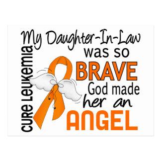 Leucemia de la nuera del ángel 2 tarjetas postales