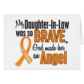 Leucemia de la nuera del ángel felicitaciones