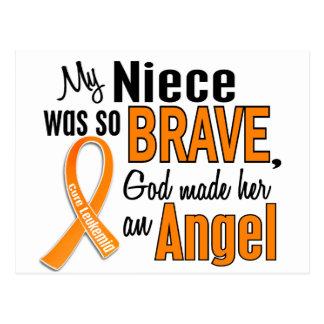 Leucemia de la sobrina del ángel tarjeta postal