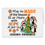 Leucemia de los pingüinos del navidad tarjeton