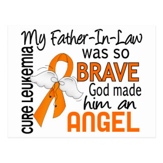Leucemia del suegro del ángel 2 tarjeta postal