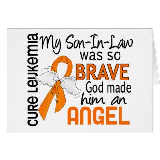 Leucemia del yerno del ángel 2 felicitacion