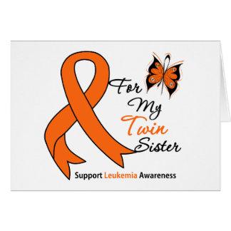 Leucemia - para mi hermana gemela tarjeton