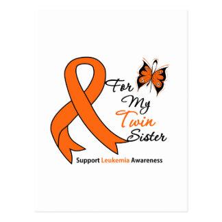 Leucemia - para mi hermana gemela postal