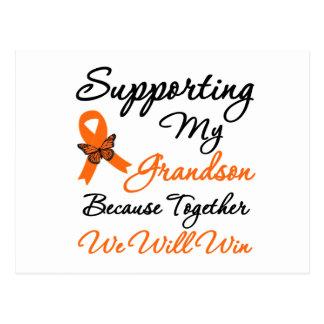 Leucemia que apoya a mi nieto postales