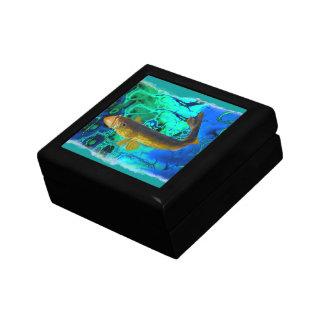 Leucomas de la natación, arte de los pescados del  caja de regalo