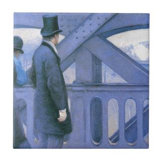 l'Europe de Le Pont de Gustave Caillebotte Azulejo Cuadrado Pequeño