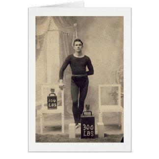 Levantador de peso del vintage tarjeta de felicitación