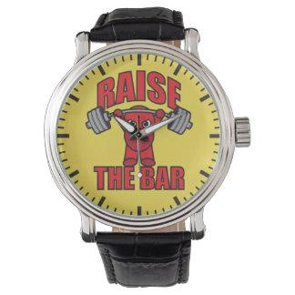 Levantamiento de pesas - aumente la barra - reloj de pulsera