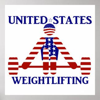 Levantamiento de pesas de los E.E.U.U. - Póster