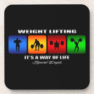 Levantamiento de pesas fresco es una manera de apoyavasos