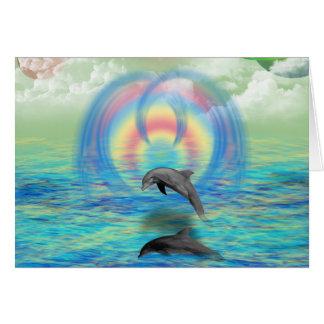 Levantamiento del delfín tarjeta de felicitación