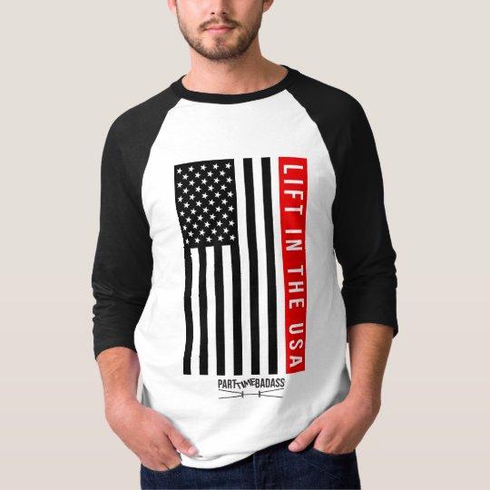 LEVANTE EN BÉISBOL unisex T de la manga de los Camiseta