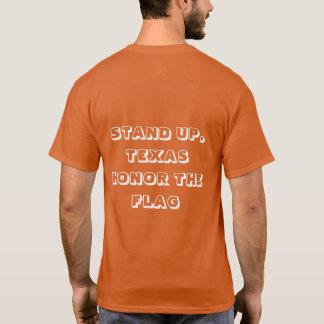 Levántese, camiseta de Tejas con Tejas y bandera