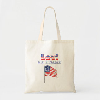 Levi para el diseño patriótico de la bandera ameri bolsa tela barata