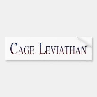 Leviatán de la jaula pegatina para coche