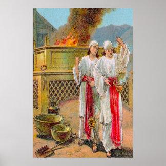 Leviticus 10 el pecado del poster de Nadab y de