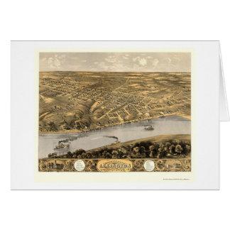 Lexington, mapa panorámico del MES - 1869 Tarjeta De Felicitación