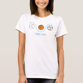 ley completa del chica camiseta