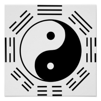 Ley de la atracción Yin Yang Póster