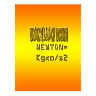 Ley de neutonio fresca del movimiento postal