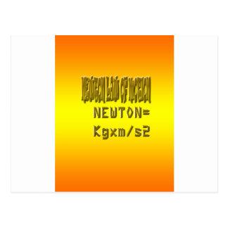 Ley de neutonio fresca del movimiento postales