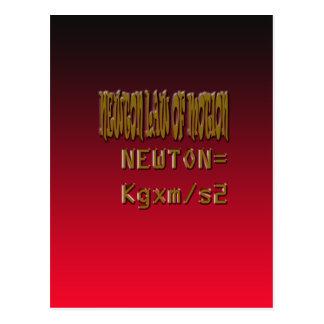 Ley de Newton del metal del movimiento Tarjetas Postales