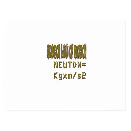 Ley de Newton del movimiento Postales