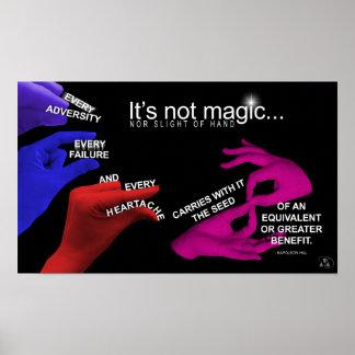 Ley del _del poster de la polaridad no es mágico póster