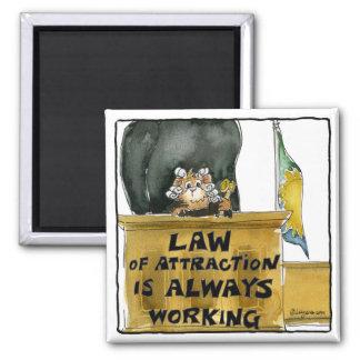 Ley del dibujo animado del imán del juez del hámst