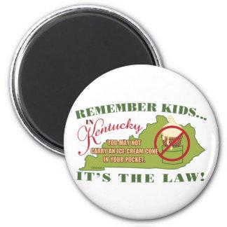 Ley del helado de Kentucky Imán Redondo 5 Cm