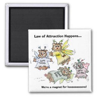 Ley del imán del dibujo animado de la atracción
