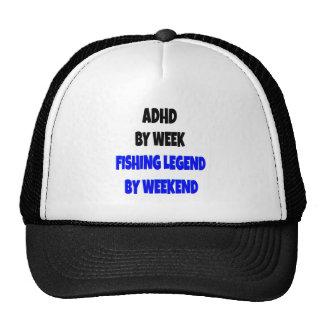 Leyenda de la pesca de ADHD Gorras