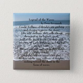 Leyenda de las ondas - sabana del helecho; chapa cuadrada