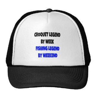 Leyenda del croquet de la leyenda de la pesca gorro