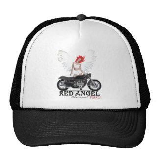Leyenda roja del motor del corredor del café del á gorro de camionero