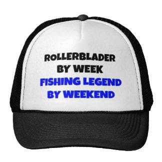 Leyenda Rollerblader de la pesca Gorro