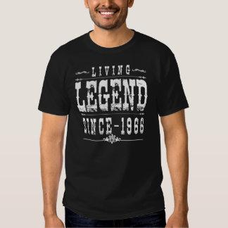 Leyenda viva desde 1966 camisetas
