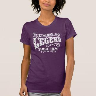 Leyenda viva desde 1974 camisetas