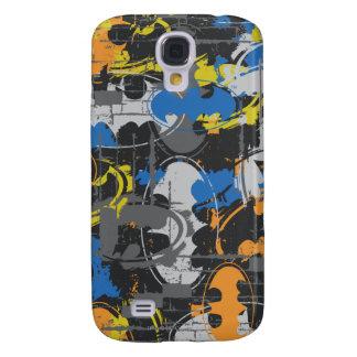 Leyendas urbanas de Batman - azul/naranja del logo Funda Para Galaxy S4