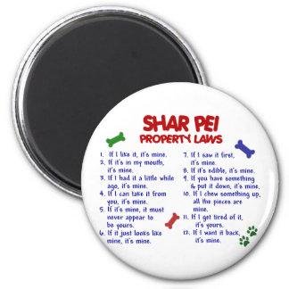 Leyes 2 de la propiedad de SHAR PEI Imán Redondo 5 Cm