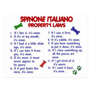 Leyes 2 de la propiedad de SPINONE ITALIANO Postal