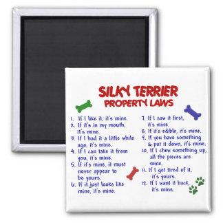 Leyes 2 de la propiedad de TERRIER SEDOSO Imán Cuadrado