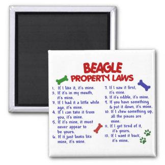 Leyes 2 de la propiedad del BEAGLE Imán Cuadrado